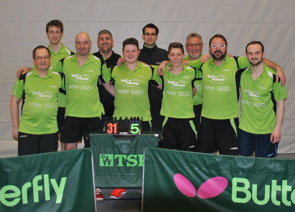 Die 2. Mannschaft gewinnt die Meisterschaft in der Bezirksklasse MOS/BCH