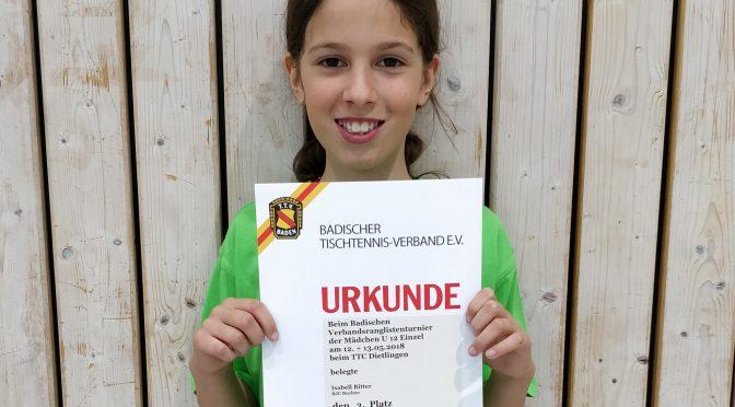 Verbandsrangliste der U12 Mädchen in Dietlingen mit BJC-Beteiligung